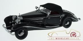 CMC Mercedes-Benz 500K Schwarz, Spezialroadster geschlossen, 1936
