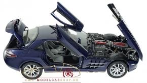 CMC Mercedes-Benz SLR McLaren, blau metallic, Leder grau