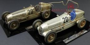 """CMC Set Mercedes-Benz W25, #20 Eifelrennen, 1934 """"DIRTY HERO ®"""" Jubiläumsmodell """"20 Jahre CMC"""""""