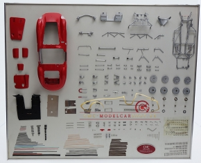 CMC Model Art Maserati 300S Bauteile Display