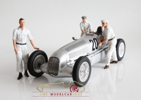 Figutec Set 3 Mercedes Mechaniker Figuren 1:18