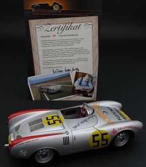 Porsche 550 RS Spyder, orig. signiert Hans Herrmann, Panamericana 1954, nummerierte limitierte Edition 65 Stück