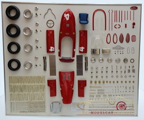 CMC Model Art Ferrari Dino 156 F1 #4 Phil Hill, Sharknose parts display board