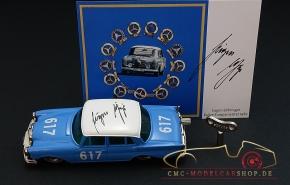 Schuco Micro Racer Mercedes-Benz 300 SE, signiert Eugen Böhringer