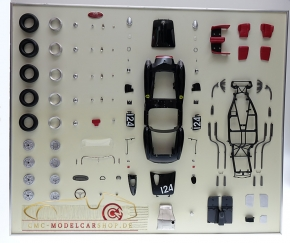 CMC Model Art Ferrari Testa Rossa schwarz DM124 Bauteile Display