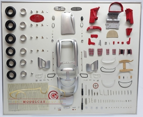 CMC Model Art Mercedes-Benz 300 SLR Uhlenhaut parts display board